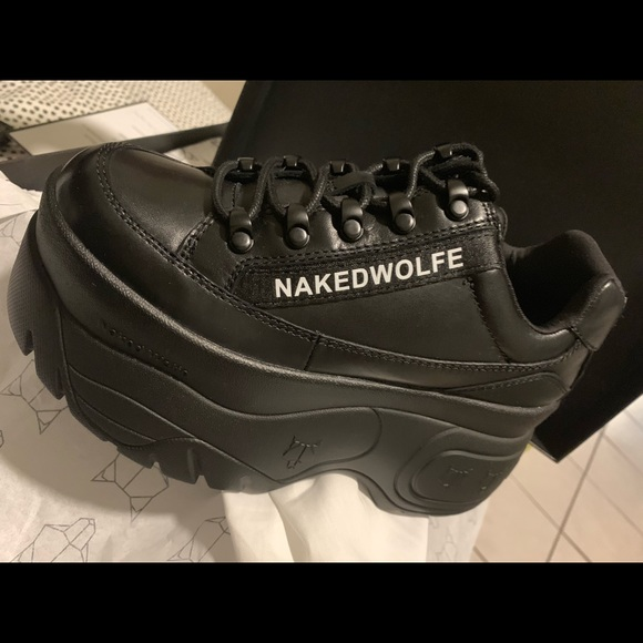 Naked Wolfe Leather Sprinter Sneaker Boots in Black - Lyst